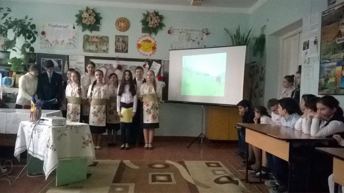 "Săptămîna Limbii Române-2016. Morari Snejana. "" Moldova mea ''."